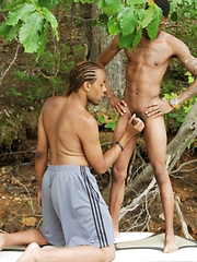 We get new-cummers Mister Buck and Damari on the Dark Thunder boat ...