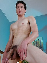 Monster Cocks: Julian Cooper horny, oversized youngster enjoys some foreskin fun before jerking out a load!